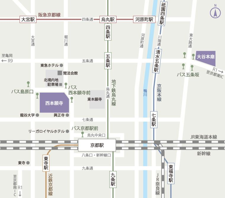 西本願寺 地図
