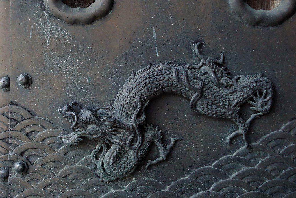 西本願寺 唐門 柱 飾り