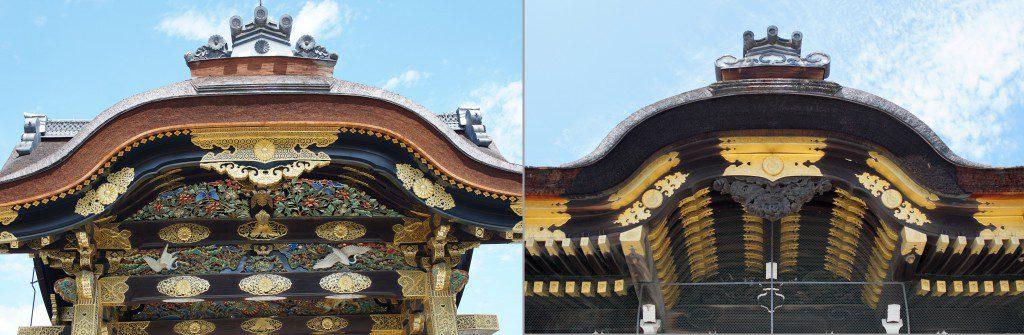 二条城唐門と西本願寺唐門