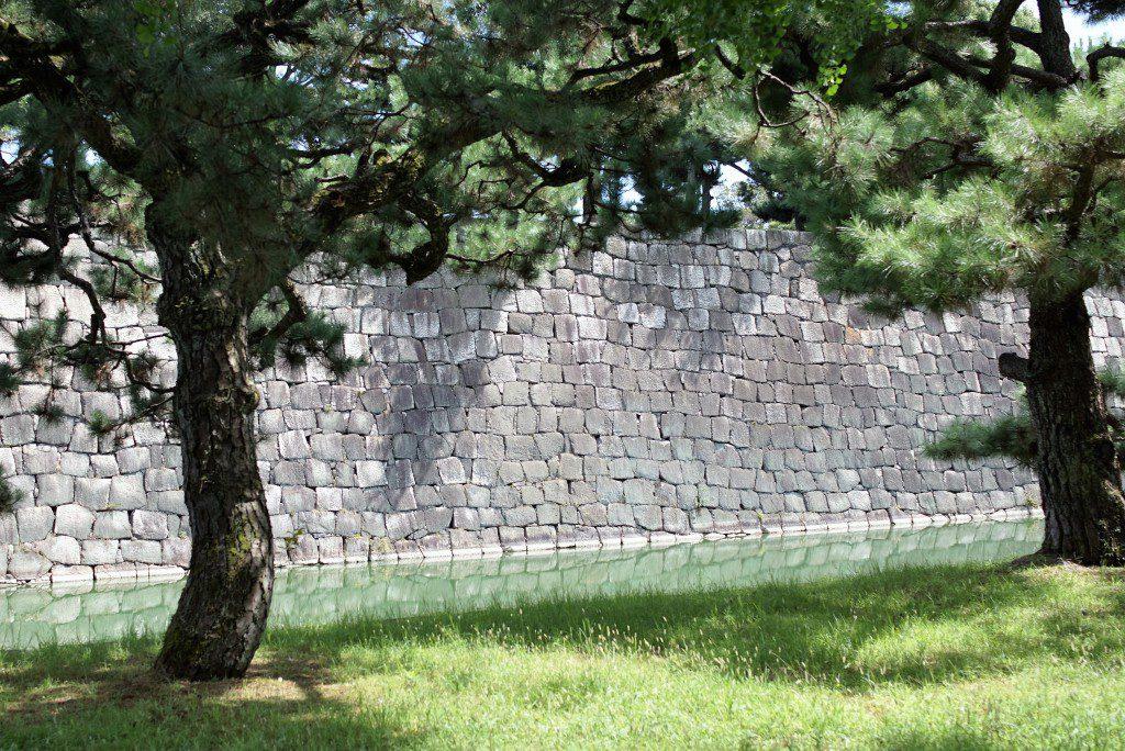 二条城 天守閣下の石垣