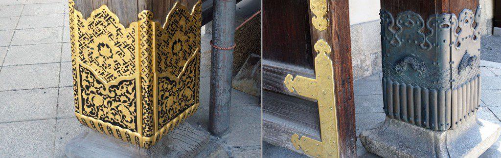 二条城唐門柱 西本願寺唐門柱