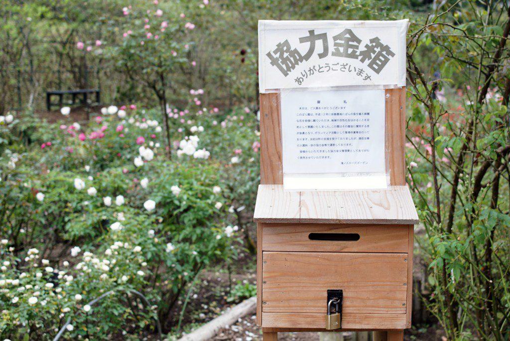毛呂山町滝ノ入ローズガーデン協力金