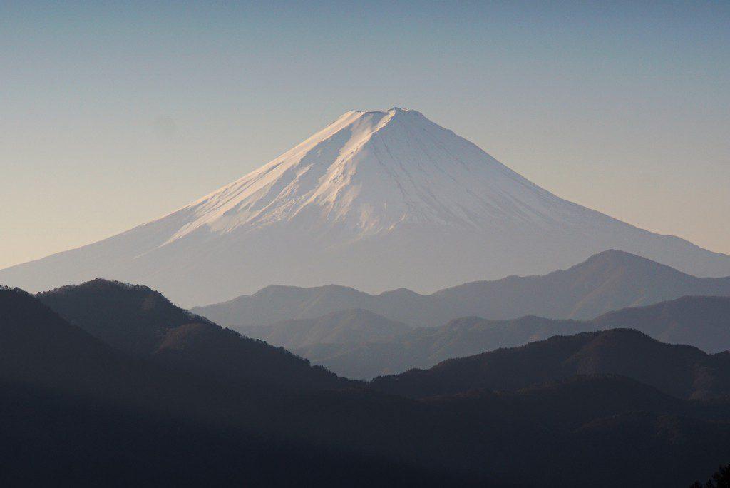 柳沢峠の富士山