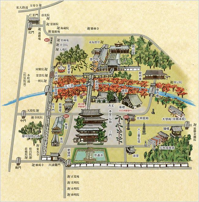 東福寺 map