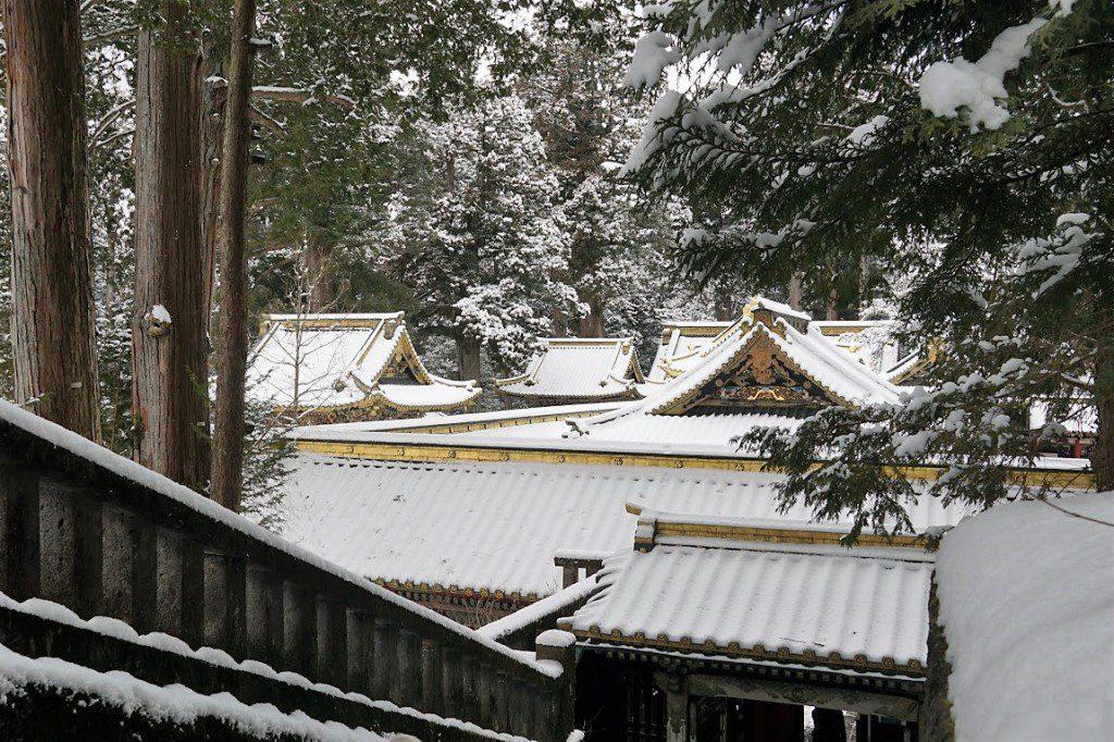 日光 雪 神橋