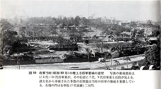 戦前の増上寺の石灯籠