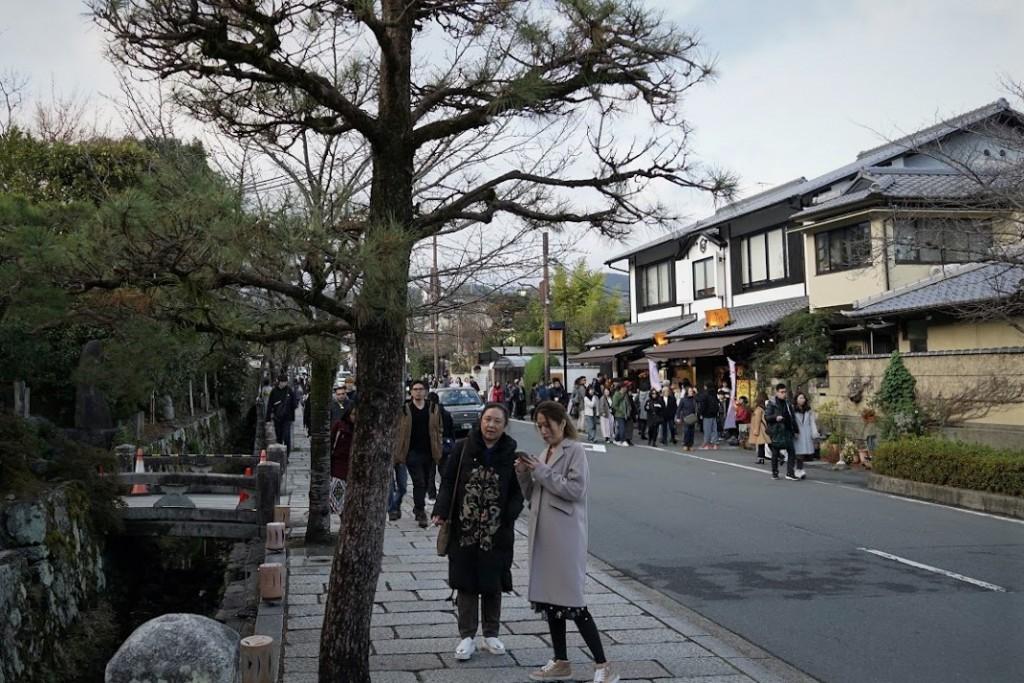 京都嵐山 観光客